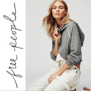 Free People Kimmie Cropped Hooded Pullover Size M